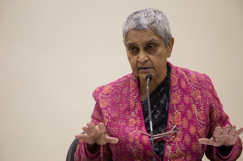 Gayatri Chakravorty Spivak in 2015. Image from Wikimedia Commons