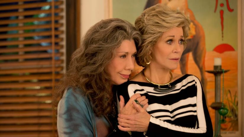 Lily Tomlin and Jane Fonda in Grace and Frankie. Netflix