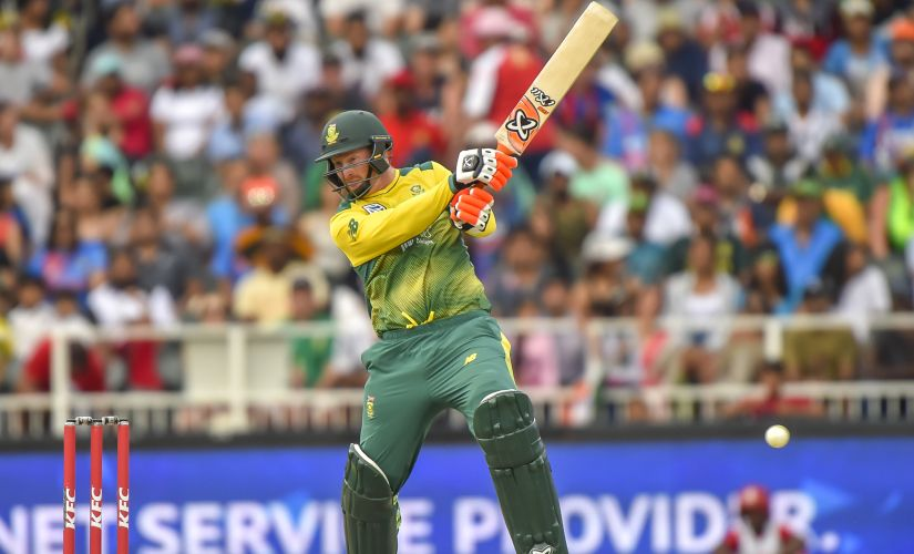 South Africa's Heinrich Klaasen plays a shot against India. AFP