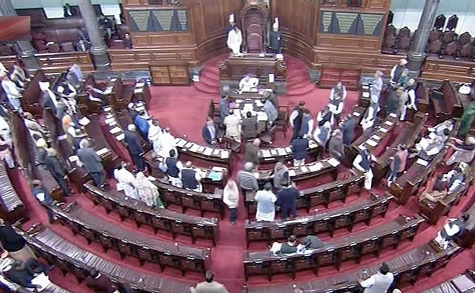 It was a stormy day in both Houses of Parliament as Prime Minister Narendra Modi delivered his speech supporting the Motion of Thanks on the President's Address amid Opposition's uproar. Meanwhile, isolated incident of protests from TMC and BJP ally TDP on different issues were also observed both inside and outside Parliament. PTI