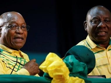 File image of Jacob Zuma and Cyril Ramaphosa. Reuters