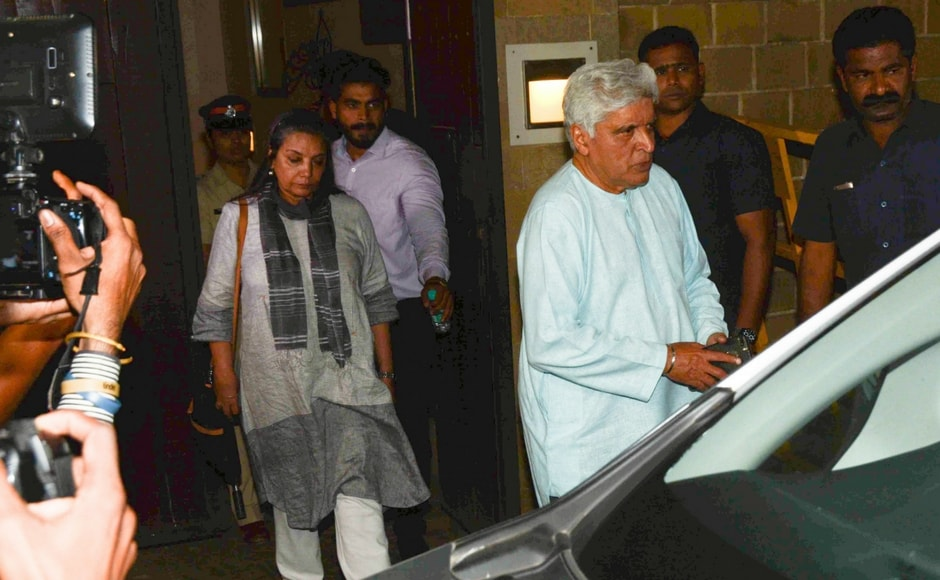 Javed Akhtar and Shabana Azmi outside Anil Kapoor's residence/Sachin Gokhale/Firstpost