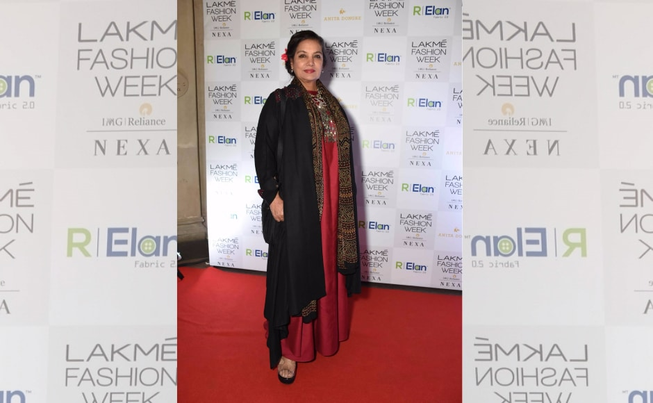 Shabana Azmi spotted at Day 1 of Lakmé Fashion Week Summer/Resort 2018