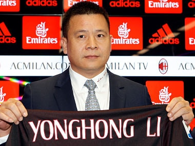 File image of AC Milan owner Yonghong Li shows. Reuters