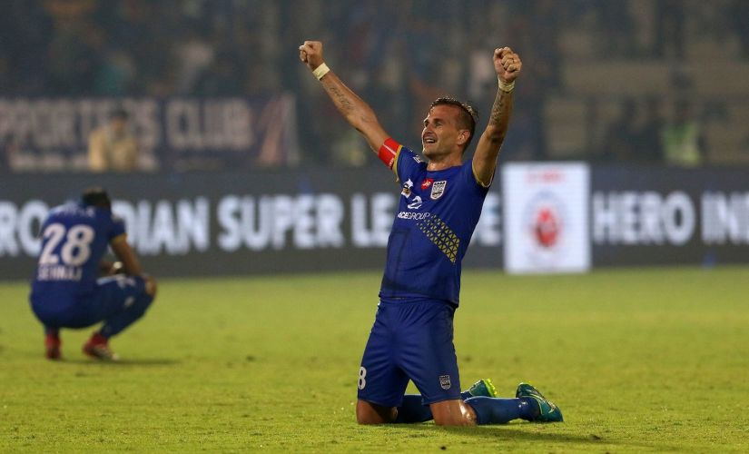 Mumbai City FC captain Lucian Goian netted a late winner to keep his side in the race for semi-finals. ISL