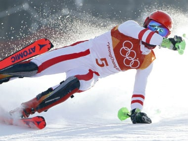 Winter Olympics 2018: Mens slalom favourite Marcel Hirscher crashes out, ends pursuit of third gold at Pyeongchang