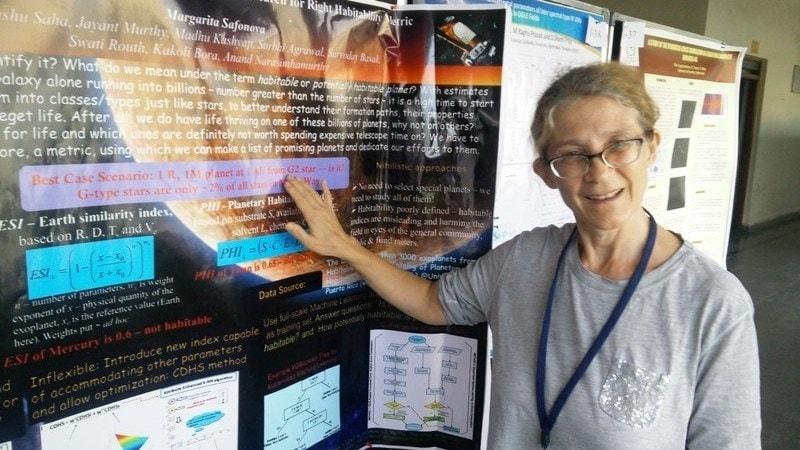 Margarita Safonova at ASI conference in Hyderabad.