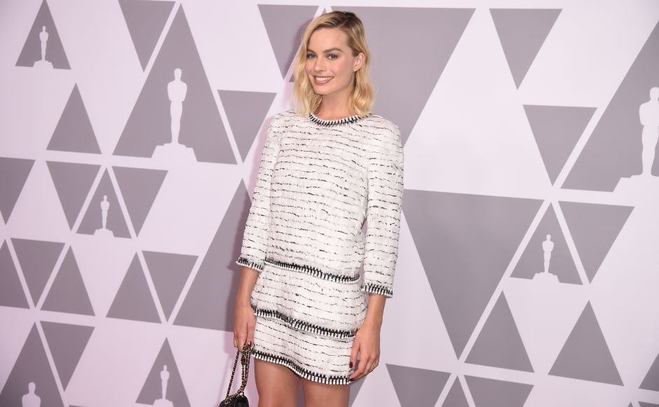 Oscar Best Actress nominee Margot Robbie arrives for the Annual Academy Awards Nominee Luncheon at the Beverly Hilton Hotel in Beverly Hills, California. AFP/Robyn Beck