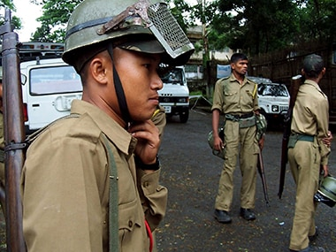 Personnel of Meghalaya Police. Reuters