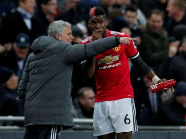 File image of Jose Mourinho and Paul Pogba. Reuters