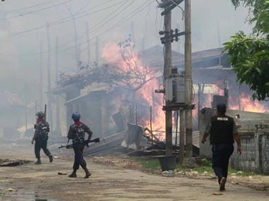 Three bombs explode in capital of Myanmars Rakhine state, no deaths reported