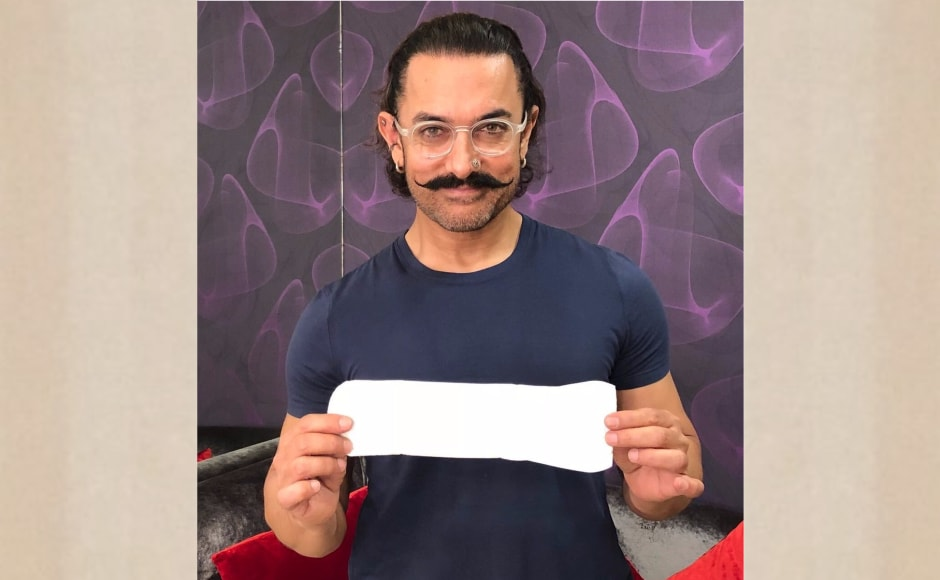 Aamir Khan taking the #PadManChallenge.