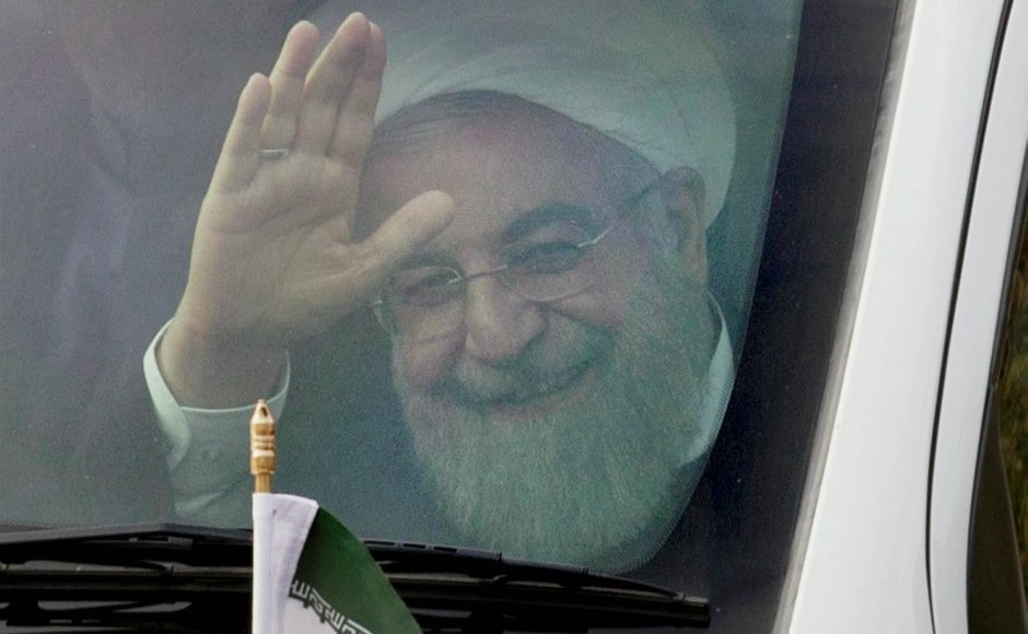 Iranian president Hassan Rouhani arrived in Hyderabad on Thursday on a three-day visit to India. PTI