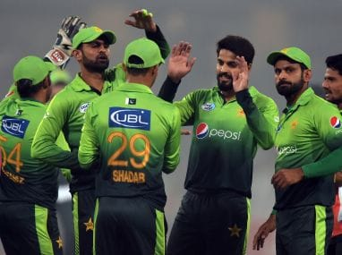 File photo of Pakistani cricketers. AFP