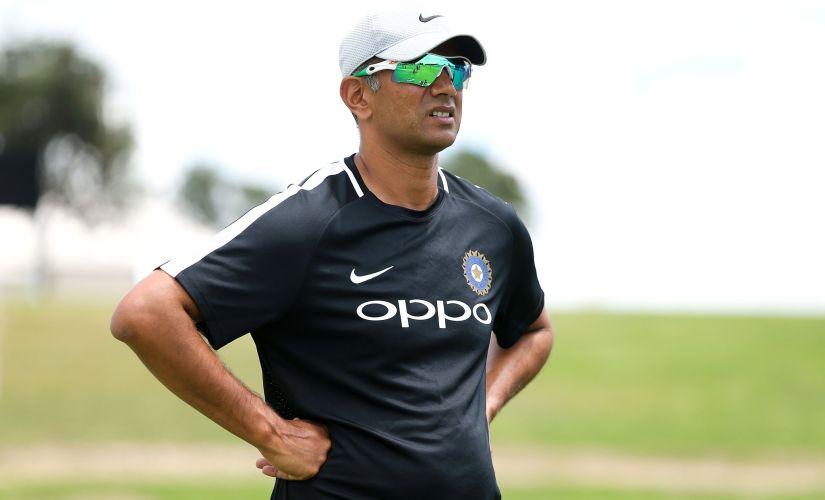 India coach Rahul Dravid. Image courtesy: Twitter/@ICC
