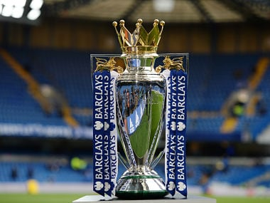 "Football Soccer - Chelsea v Manchester City - Barclays Premier League - Stamford Bridge - 16/4/16 View of the Barclays Premier League Trophy before the match Action Images via Reuters / Tony O'Brien Livepic EDITORIAL USE ONLY. No use with unauthorized audio, video, data, fixture lists, club/league logos or ""live"" services. Online in-match use limited to 45 images, no video emulation. No use in betting, games or single club/league/player publications. Please contact your account representative for further details. - 14352007"