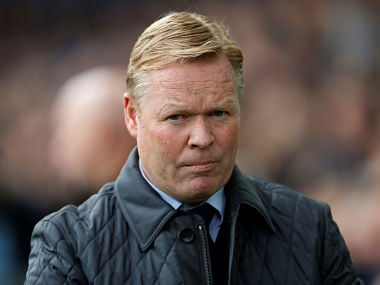 """Soccer Football - Premier League - Everton vs Arsenal - Goodison Park, Liverpool, Britain - October 22, 2017 Everton manager Ronald Koeman Action Images via Reuters/Lee Smith EDITORIAL USE ONLY. No use with unauthorized audio, video, data, fixture lists, club/league logos or """"live"""" services. Online in-match use limited to 75 images, no video emulation. No use in betting, games or single club/league/player publications. Please contact your account representative for further details. - RC16E2EF9B30"""
