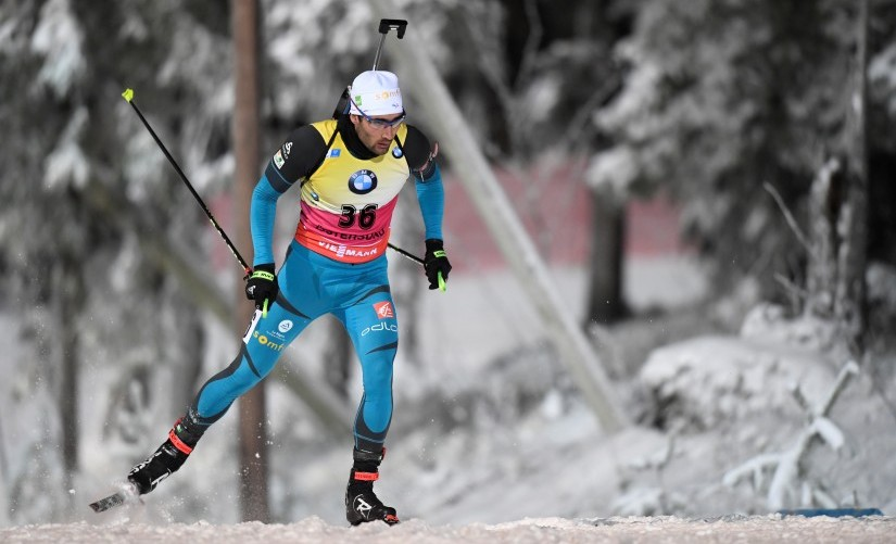 File photo of France's Martin Fourcade in action. Reuters