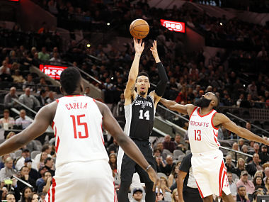 NBA: LaMarcus Aldridge, Danny Green shine as Spurs down Cavaliers; James Harden leads Rockets to victory