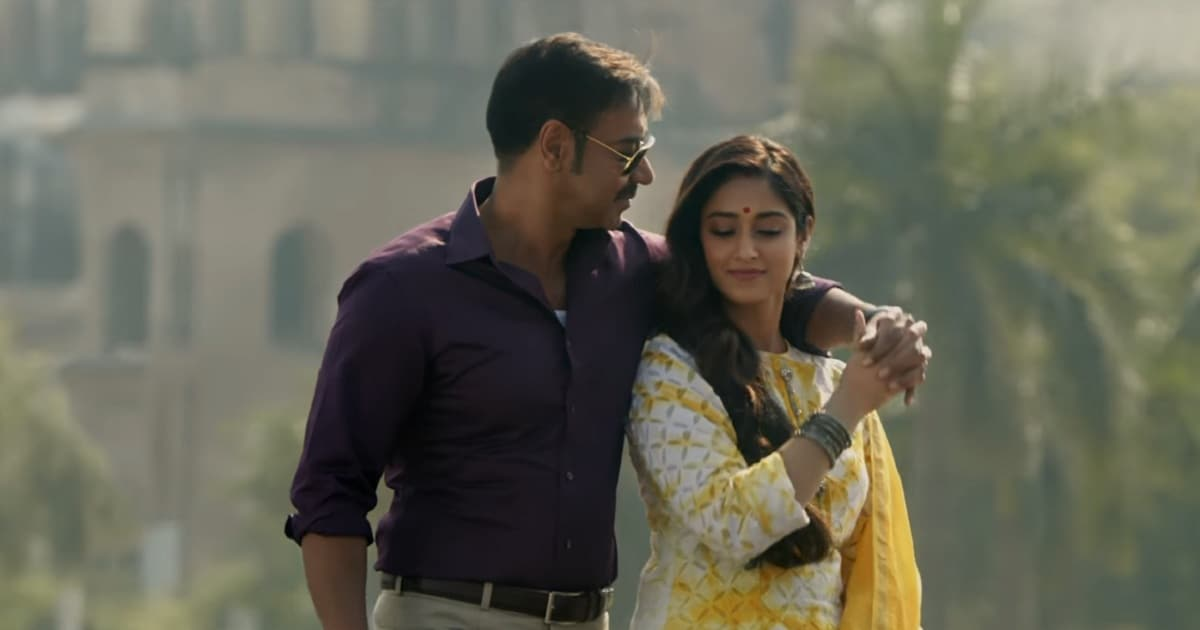 Still from Raid's song 'Nit Khair Manga' featuring Ajay Devgn and Ileana D'Cruz. YouTube screengrab