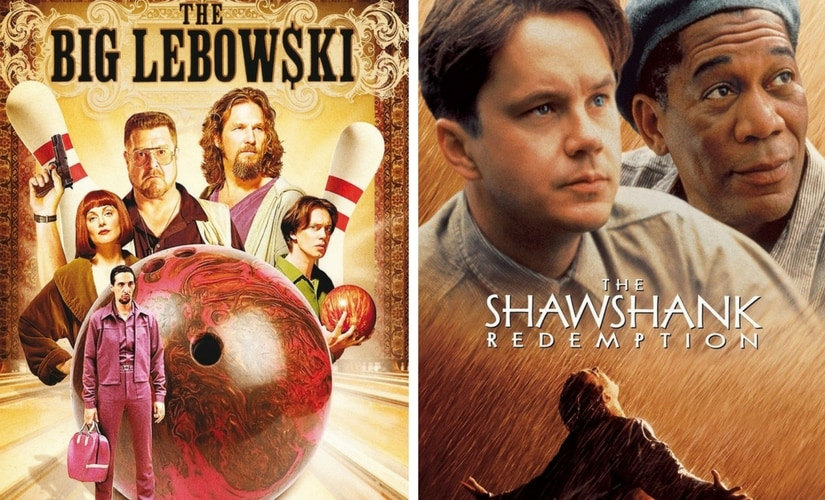 The poster for The Shawshank Redemption and The Big Lebowski/Image from Twitter.