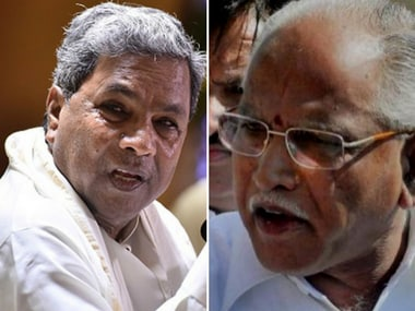 File image of Karnataka Chief Minister Siddaramaiah and Karnataka BJP chief BS Yeddyurappa. Getty Images and PTI