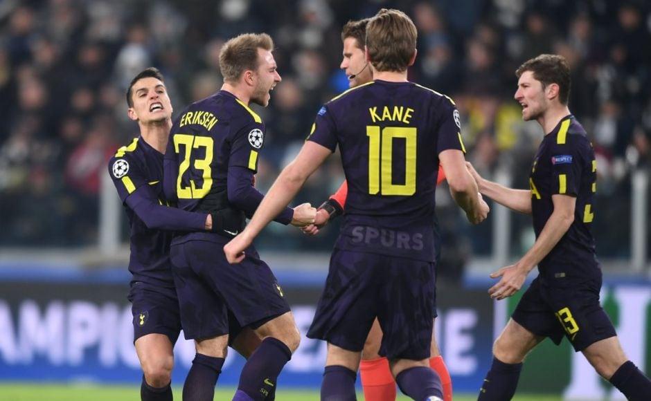 Tottenham Hotspur hold Juventus, Manchester City thrash Basel in Champions League last-16 tie