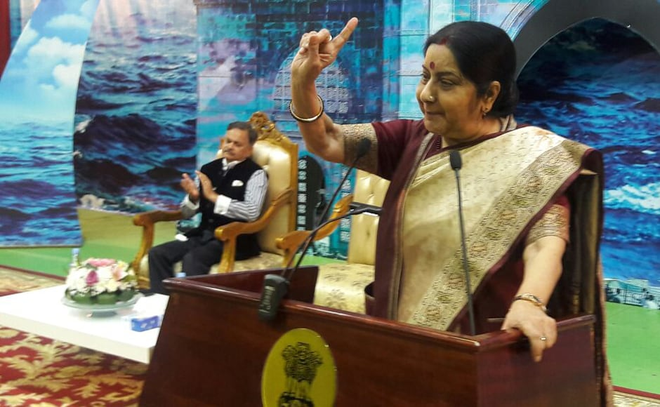 On Wednesday evening, Swaraj addressed Indian community members in Riyadh and spoke at length about the growing relations between both countries. Saudi Arabia is home to more than 3 million Indian people and ties have been on an upswing over the last few years. Twitter @MEAIndia