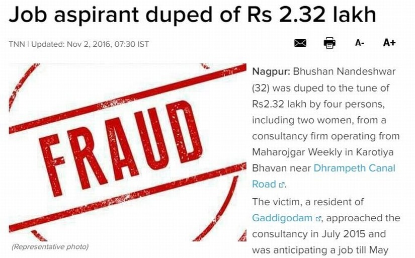 Fraud. Image credit: The Times of India