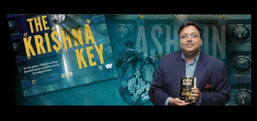 Ashwin Sanghvi with his book The Krishna Key. Facebook