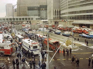 File image of 1993 explosion inside World Trade Center building in New York. AP