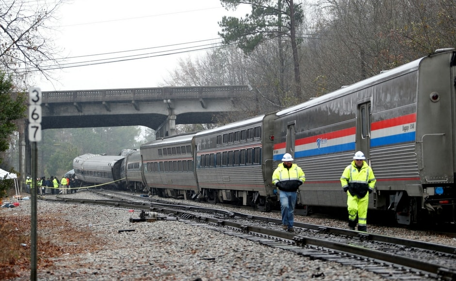 The passenger train was part of Amtrak' Silver Star Service, and the wreck occurred about 8 kilometres southwest of Columbia. Reuters