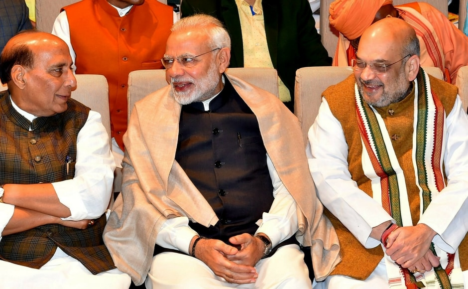 Narendra Modi meets party MPs at BJP parliamentary meeting; Amit Shah, Rajnath Singh attend event