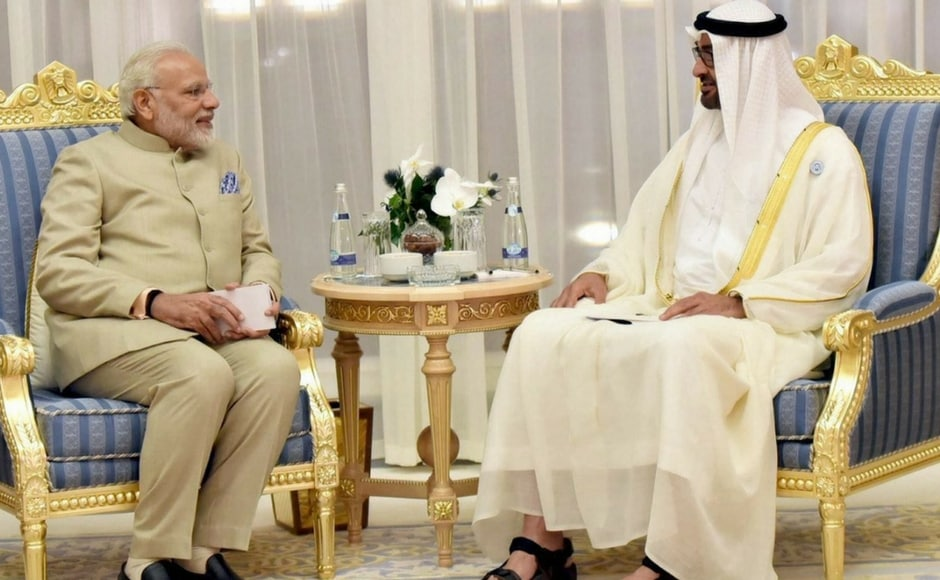 The duo also signed a historic pact awarding a consortium of Indian oil companies a 10 percent stake in offshore oil concession. PTI