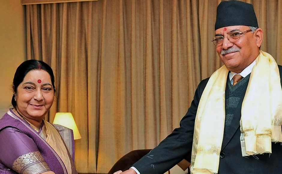 Swaraj also met with chairman of CPN (Maoist Centre) Pushpa Kamal Dahal 'Prachanda of Nepal and complimented him on his party's performance in the recent elections. The two duo discussed steps to further deepen India-Nepal bilateral relations. PTI