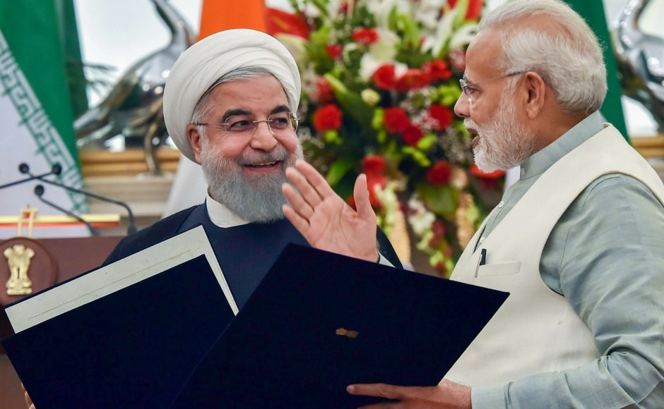 India and Iran today signed a significant pact which gives New Delhi operational control of a part of the strategically located Chabahar port on the Gulf of Oman for 18 months. PTI