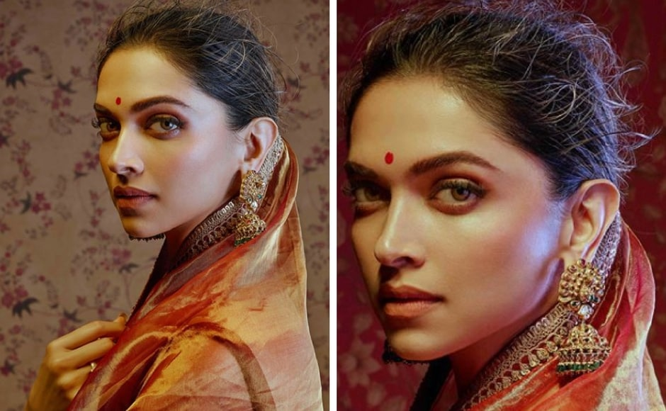 Deepika Padukone in 'Vasant' from Sabyasachi's latest collection Nilaya. Instagram/@sabyasachiofficial