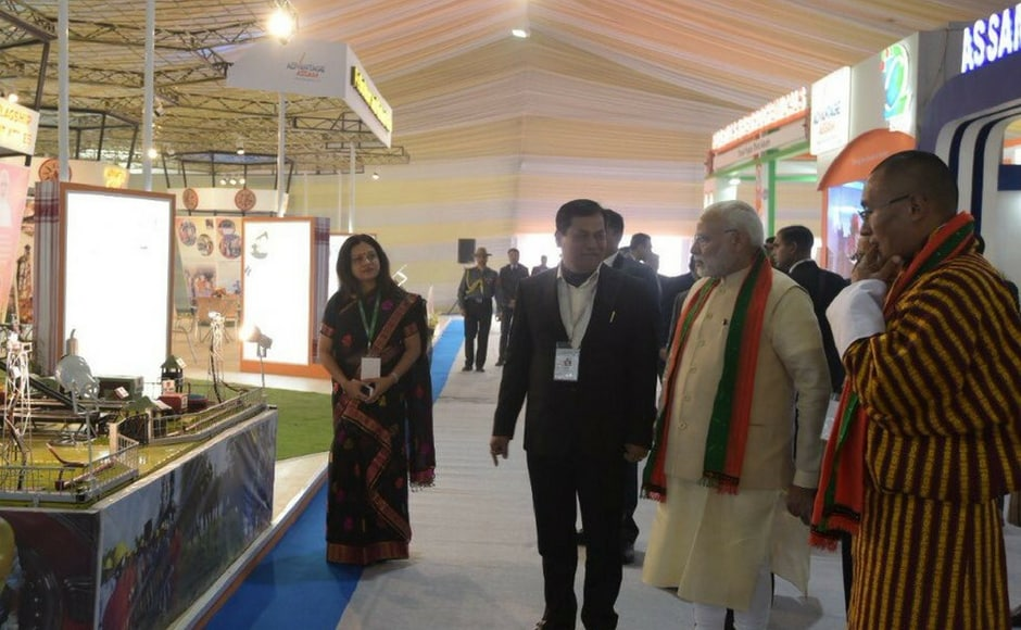 Over 250 MOUs worth Rs 60,000 crore are expected to be signed on the first day of the summit on Saturday. Image courtesy: Twitter/narendramodi