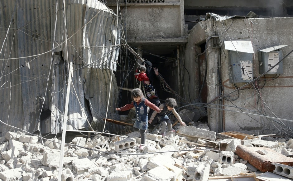 The death toll has risen from an initial report of 16 to around 70, including 18 children, according to the Syrian Observatory for Human Rights. Reuters