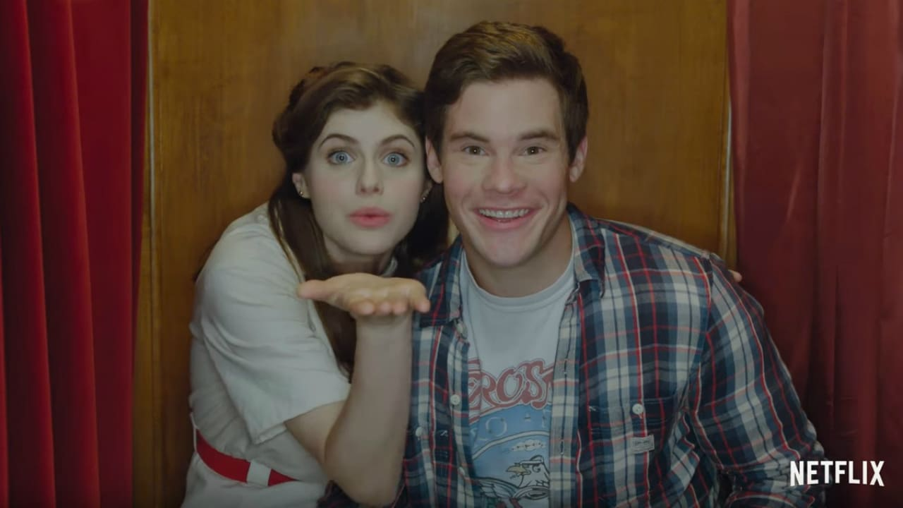 Alexandra Daddario and Adam DeVine in When We First Met. Screenshot from YouTube video