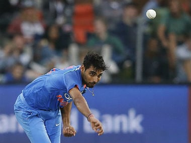 File photo of Bhuvneshwar Kumar. AFP