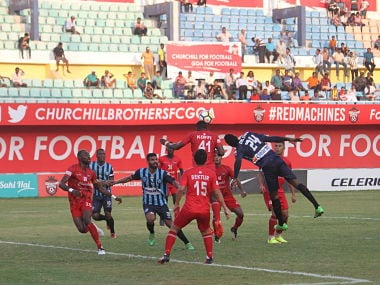 Churchill Brothers defeated Minerva Punjab 2-1 in Goa. I-League