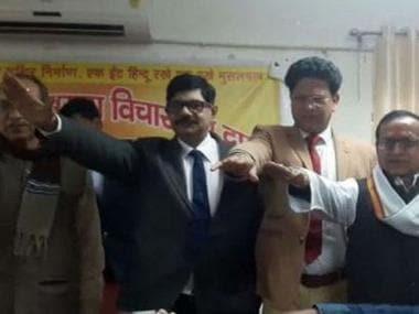 DG Homguard Suryakumar Shukla was seen in a video taking oath to build Ram Temple. News18 Hindi