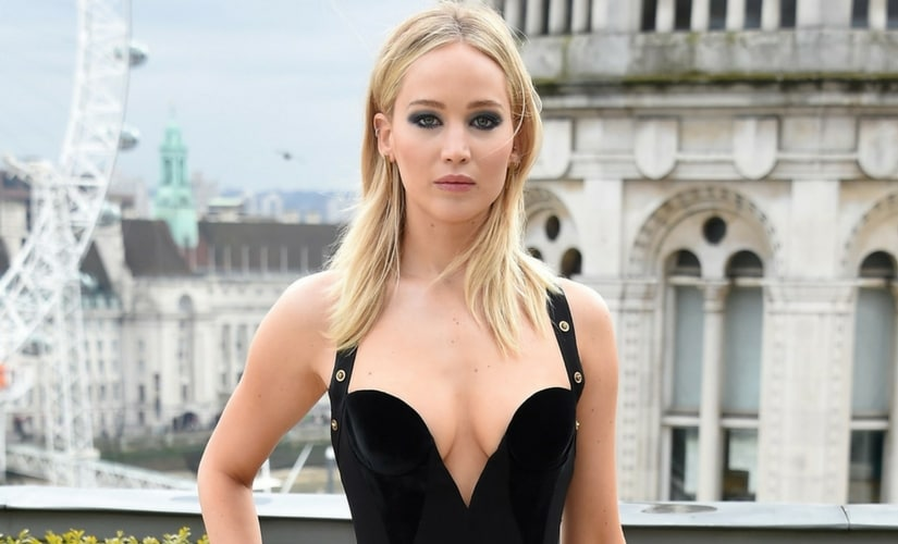 Jennifer Lawrence in London during the promotion of Red Sparrow/Image from Twitter.