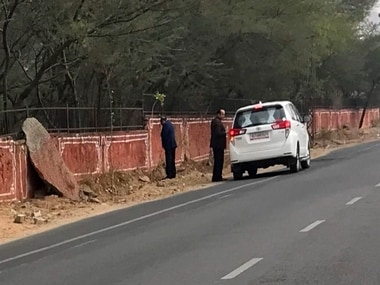 An image of Rajasthan minister Kali Charan urinating in public has gone viral. News18