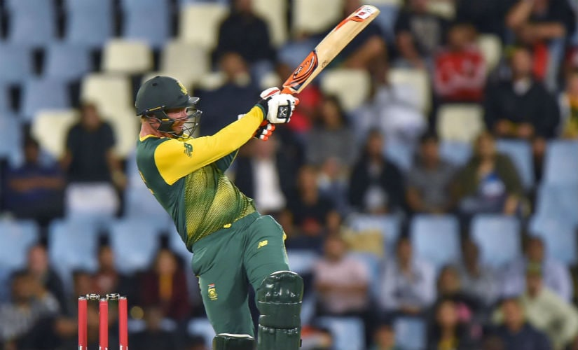 South Africa Heinrich Klaasen plays a shot during the second T20I match against India in Centurion. AFP