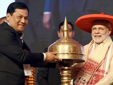 Narendra Modi inaugurating the Advantage Assam summit. PTI