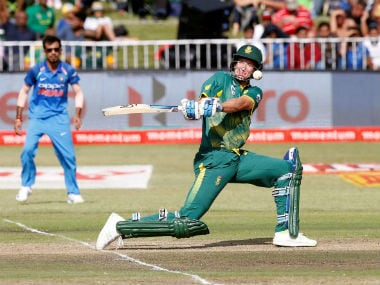 South Africa's Chris Morris plays a shot during the 1st ODI of the series against India in Durban. Reuters