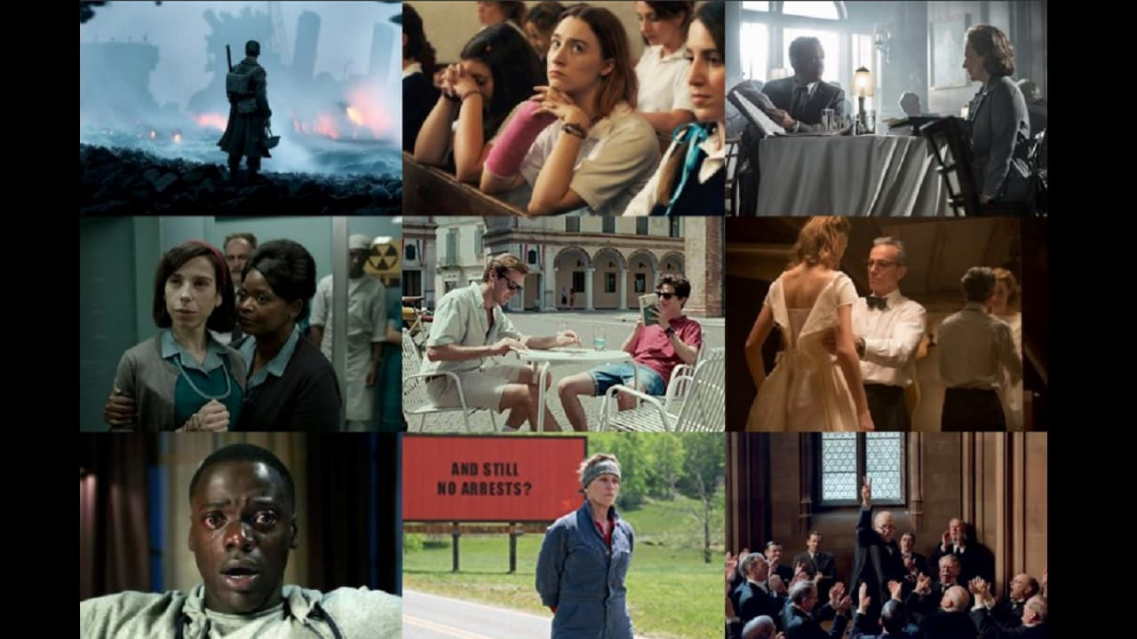 Best Picture nominees at Oscars 2018