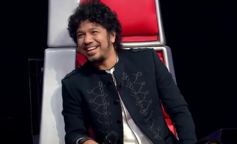 Papon on the show The Voice India Kids/Image from Twitter.